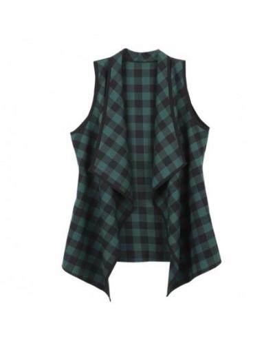 Colete feminino Autumn Spring Women Vest Jacket Sleeveless Casual Loose Waistcoat Lattice Open Cardigan Female Vest New - Gr...