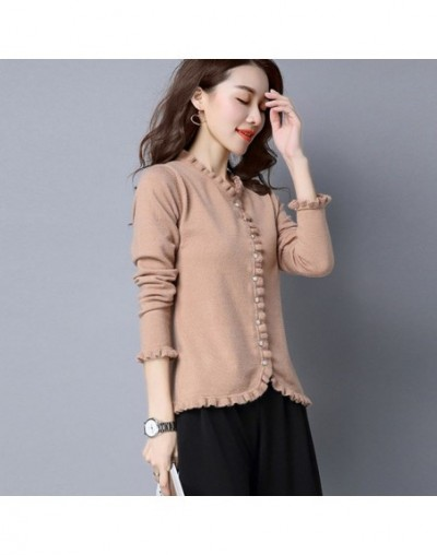 Fashion Knitted Cardigan Sweater Women Coat Long Sleeve Plus Size 3XL Sweater Casaco Feminino Elegant Slim Ladies Tops Coat ...