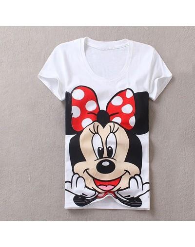 New Cute Cartoon Mouse T Shirts For Women Elegant Harajuku Totoro T Shirt Girl Casual Tops Female Print Tees T-shirts - one ...