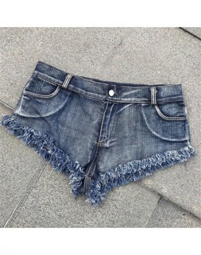 Summer Women Jeans Mid Waist Button Pockets Tassel Mini Jeans Shorts jeans femme vaqueros mujer джинсы женские большие разме...