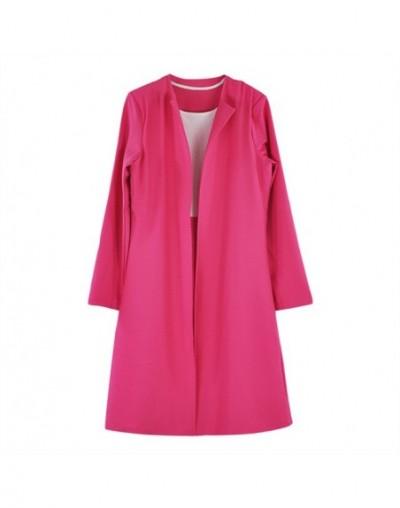 Office Lady Formal Dress Suits Business Wear Women Long Blazer Jacket+ Sheath Dress 2 Piece Set - Light Blue - 4E3070373678-2