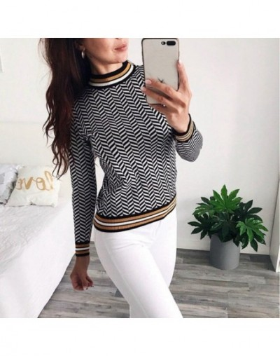Women Pullover Sweater Jacquard Knitwear Long Sleeve O Neck Soft Thick Jumper Euro Christmas Sweaters Top Pull Femme - black...