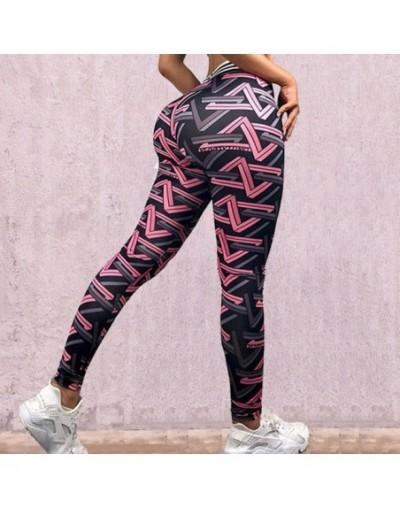 2019 New Flower print Leggings Women High waist Legins Work Out Sporting Slim Purple woven print Trousers Fitness Leggins ZS...