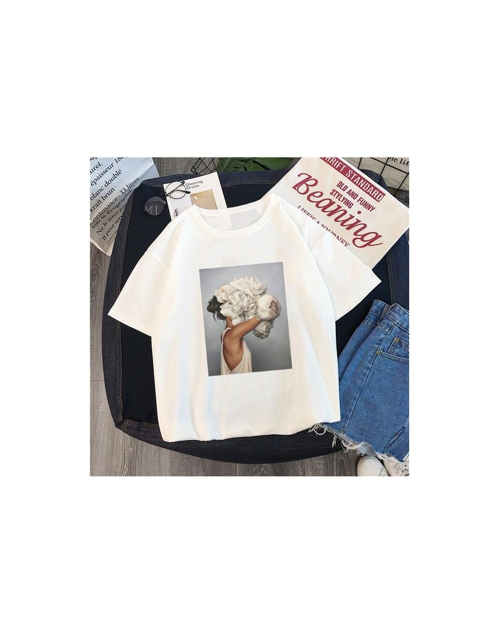 Tshirt new 2019 tshirt round neck short sleeve casual loose Europe and America flowers print short-sleeve women's T-shirt TX...