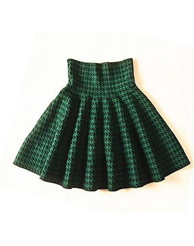 2019 Spring Autumn New Women Skirt Knitting Woolen Midi Skirt Ladies High Waist Casual Pleated Elastic Flared Skirts Womens ...