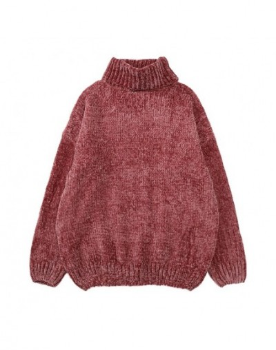 Autumn Winter Harajuku Turtleneck Sweater Women Loose Pull Femme Shiny Warm Knitted Ladies Sweaters and Pullovers Oversized ...