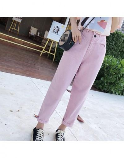 Mishow 2019 Summer Women Jean pants Ankle-length High Waist Harajuku Harem pants New Korea Trousers MX19B2361 - pink - 4E412...