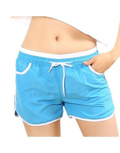 Women Fast Dry Drawstring Casual Shorts Loose European Style Cotton Sexy Home Short Women's Fitness Shorts Patchwork Streetw...