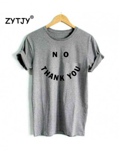 No THANK YOU Letters Print Women t shirt Cotton Casual Funny tshirts For Lady Top Tee Hipster Drop Ship Tumblr Z-537 - gray ...