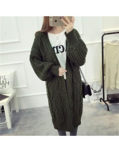 Women Long Cardigans and Poncho Latern Sleeve Open Stitch Knit Sweater Cardigans V neck One size Cardigan Jacket Coat ZY3737...