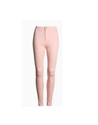 Fashion Slim Jeans Women Femme Female 2019 White Jeans With High Waist Tight Jeans Women's Candy Color New Pants Women Trous...