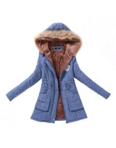 Women Parka Fashion Autumn Winter Warm Jackets Women Fur Collar Coats Long Parkas Hoodies Office Lady Cotton Plus Size CRRIF...