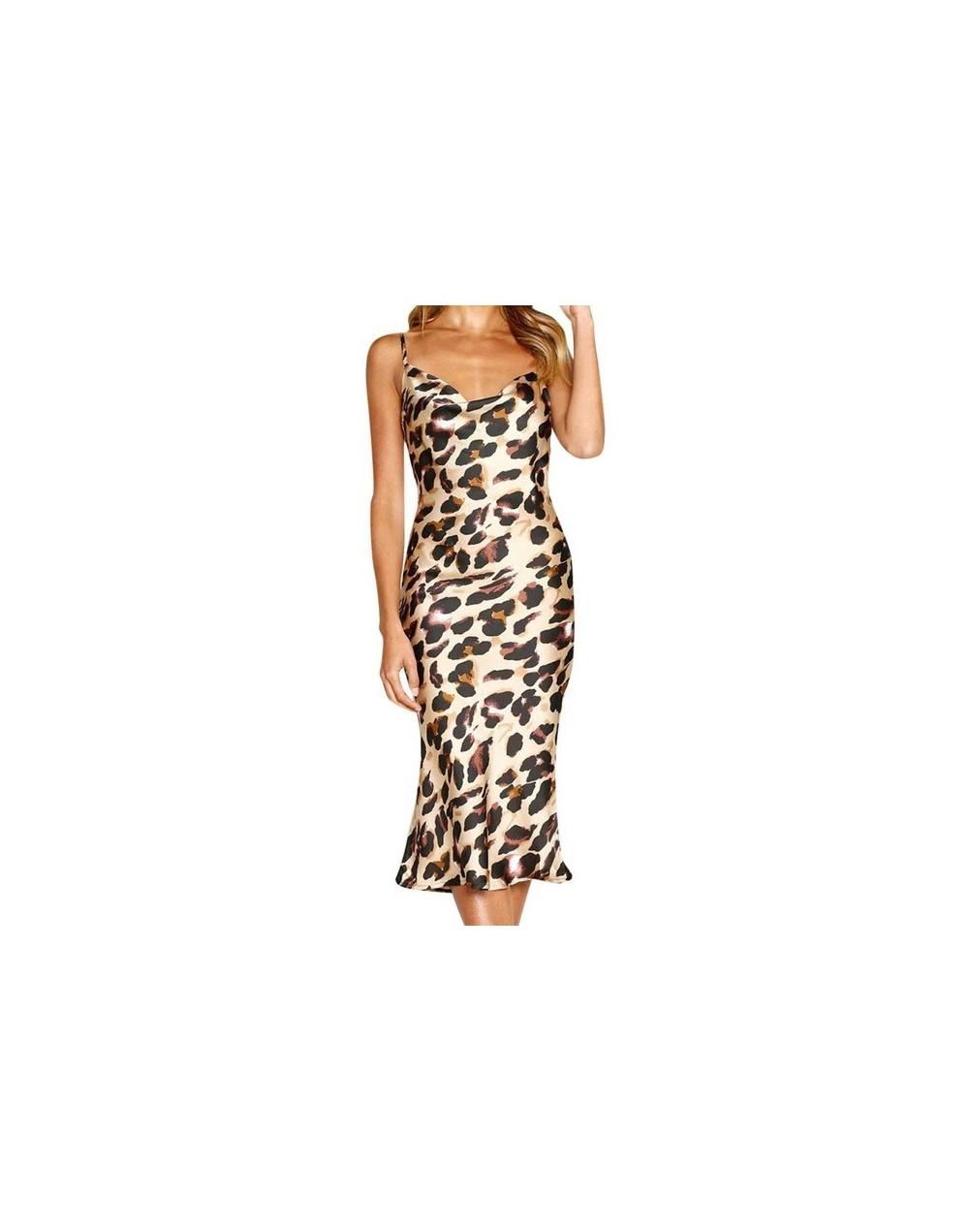 Summer Satin Dress Women Green Pink Black Spaghetti Strap Backless Sexy Midi Party Night Club Long Silk Slip Dress 2019 - Kh...