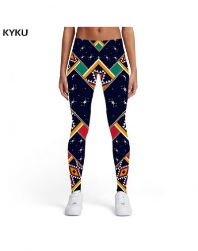 Geometric Leggings Women Colorful Spandex Vintage Sexy Rainbow Ladies Graphics Trousers Womens Leggings Pants Jeggings - Lad...