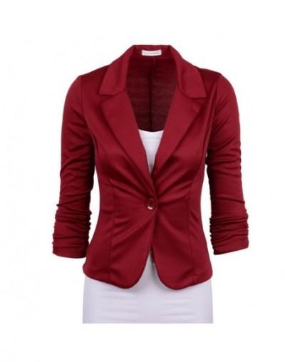 Women Street Blazer Jackets Coat Slim Fit Casaco Blazer Casual Coats Single Button Candy Color OL Blazers Small suit YFX1629...