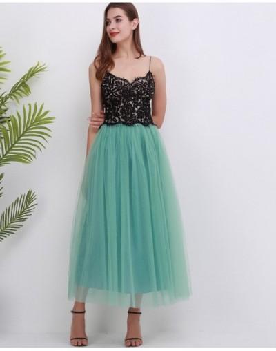 4 Layers 100cm Maxi Long Tulle Skirt Elegant Princess Fairy Style Tutu Skirts Womens Vintage Bouffant Puffy Fashion Skirt - ...