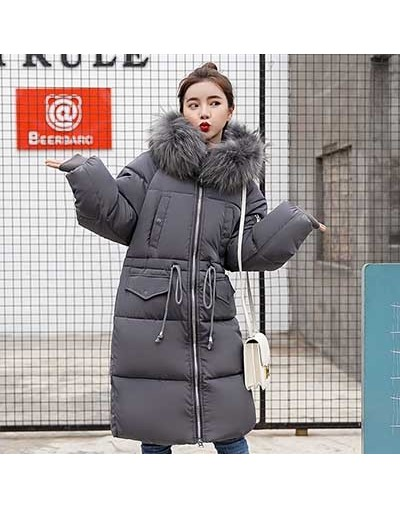 Warm Big Fur Hooded Quilted Coat Winter Jacket Woman 2018 Fashion Solid Color Zipper Down Cotton Parka Plus Size Slim Outwea...