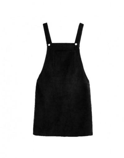 2019 Women Retro Corduroy Skirt Autumn Winter Suspender Overall Vest Jumpsuit Braces Skirts Preppy Style Korean Sleeveless S...