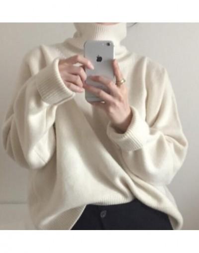 Women Autumn Winter Sweater Jumper Cashmere Knitted Pullover Tops Turtleneck Elegant Slim Plus Size Oversized Pull Femme Hiv...