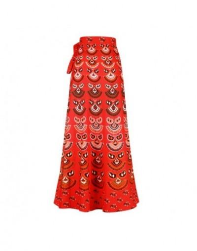 Boho Wrap Around Floral Print Maxi Skirt Women Elegant Indian Tribal Style Bohemian Long Hippy Beach Skirt Belted For Ladies...