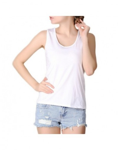 6XL Plus Size Summer Women Fashion Slim Tank Tops Female Bodycon Camisole Sleeveless Geometric T shirts - as picture color -...