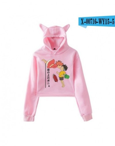 Ponyo On The Cliff Cat Ear Hoodie Sweatshirt Cartoon Cute Pullovers Women Autumn Long Sleeve Ladies Hoodies Casual Sweatshir...
