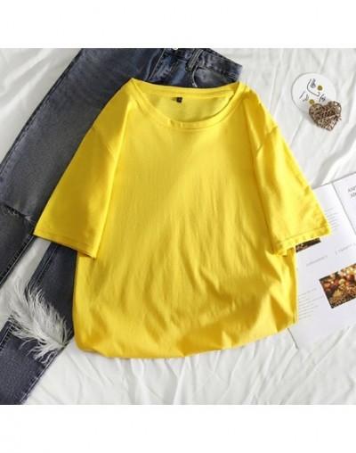 Casual Harajuku Women T shirt Ladies Tops Summer New Female T-shirts Short Sleeve Oversize Basic Tee Cotton Loose Plus Size ...