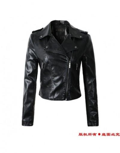 2019 New Fashion Women Casual Motorcycle Faux Soft Leather Jackets Girls Autumn Winter Pink Black Coat Outwear PU Streetwear...