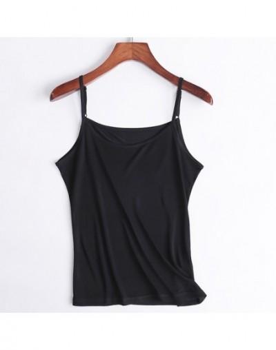 Women silk Camis 100% Natural silk Basic Camisoles Comfortable Silk tank tops 2019 Summer halter top Black White Nude Pink -...