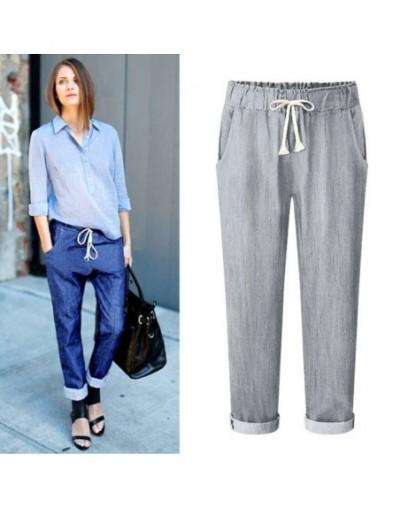 Harem Jeans Pants Womens High Waist Loose Straight Nine Pants Womens Comfortable Casual Pants Large Size 6XL OL Pants 7900 -...