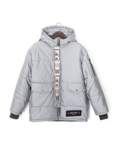 2019 European street fashion New Winter Night Reflective Jacket Women Hooded Jackets Winter Thick warm Outwear Female Coat P...