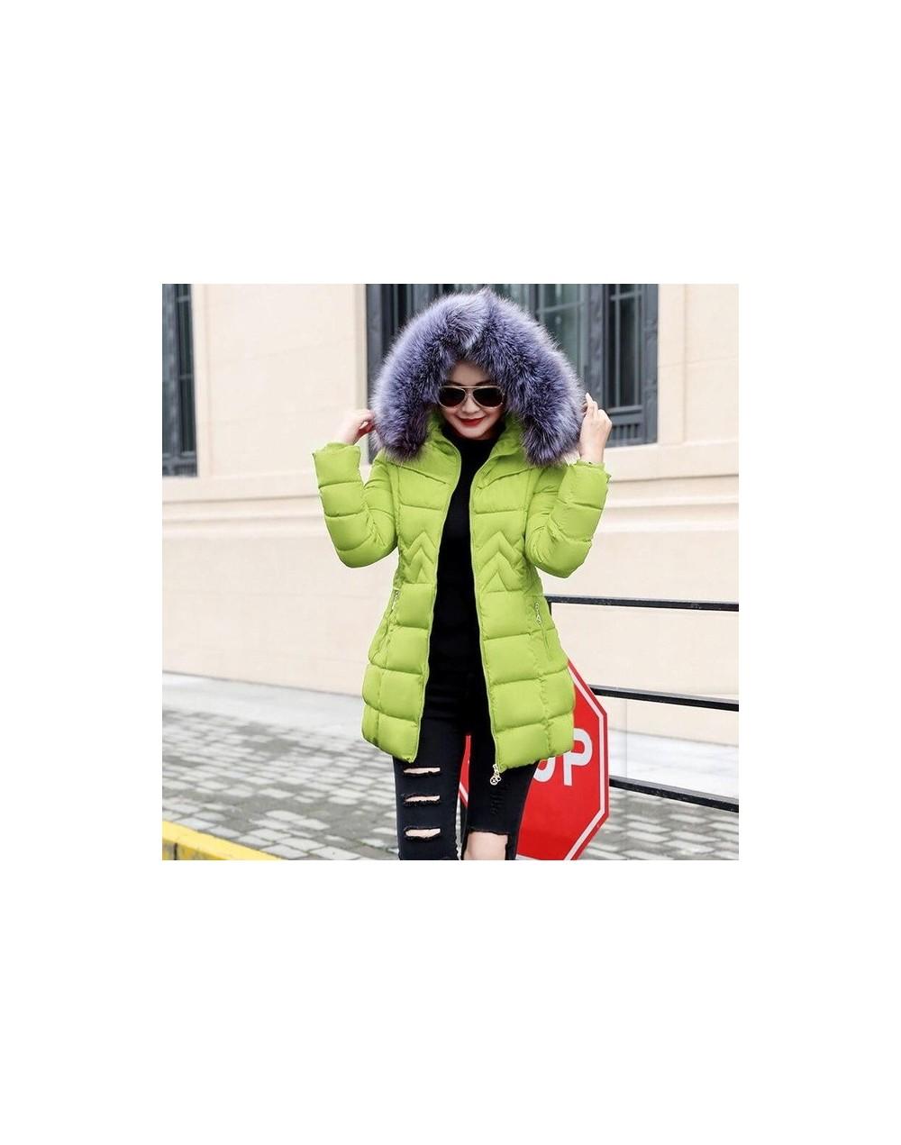New 2019 Winter Jacket Women thick Winter Coat Lady Clothing Female Jackets Long Parkas Fake fur collar Parka down cotton ja...
