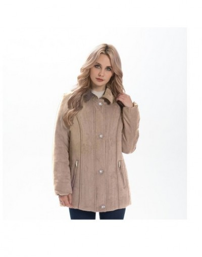Women Jacket 2019 casual Spring Winter padded parkas Army Green classic suede jacket plus size 5XL 7XL ladies outerwear - Be...