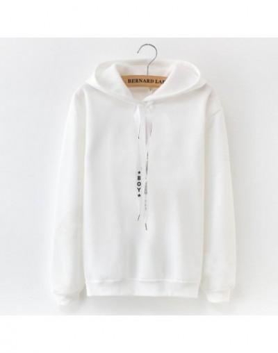 2019 S-XXXL Autumn Winter Fleece Harajuku Pullover Solid Thick Loose Women Hoodies Ladies Sweatshirts 2 Female Casual Coat -...