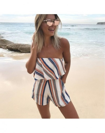 Fashion Rompers Women Jumpsuit Playsuit Clothes Chest Wrapped Strapless Short Overalls Jumpsuit Female Casual Summer Clothin...