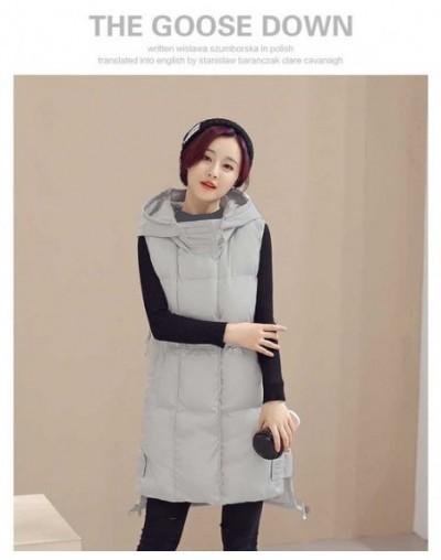 Winter Women's jacket Windproof Warm Long Cotton Waistcoat Casual Sleeveless hooded femme coat veste - gary - 4G3941041202-2