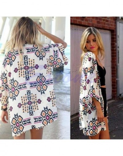 New Sexy Women Floral Boho Bikini Swimwear Beach Cover Up Kaftan Shirt Blouse Fashion - Multi - 4S3896091211