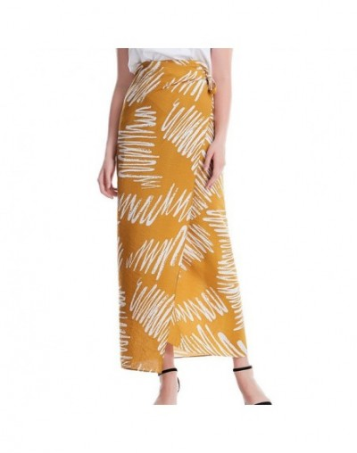 long skirts for women a-line skirt ladies long skirts Printing Sexy Lacing High Waist Slim Fit Casual Wild Long Skirt T724 -...
