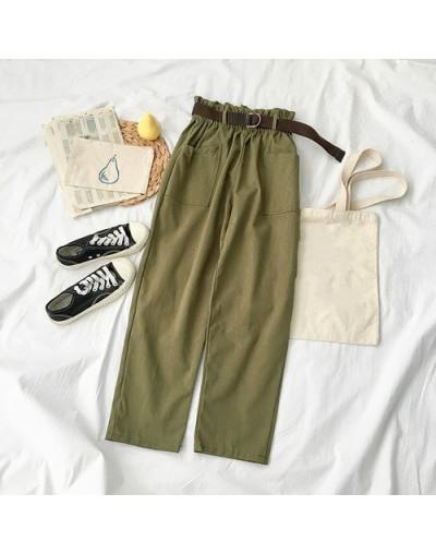 2019 Spring Autumn Wide Leg Pants Women Casual High Waist Loose Korean Style Pantalon Female Trousers with Sashes 39028 - ar...