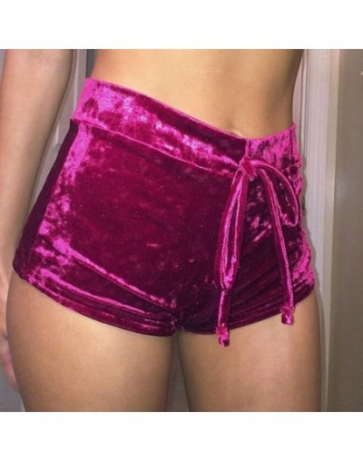 Fashion Women Ladies Summer Casual Shorts Sexy High Waist Shorts Hot Women Ladies - Red - 4E3803965414-5