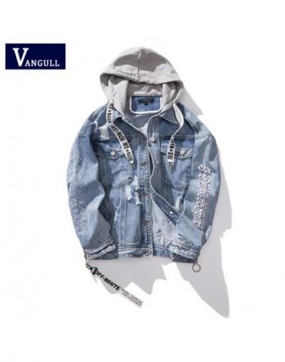 plus size 5XL Embroidery beading Hood Denim Jacket 2019 Spring Autumn Winter Female Jean Coat Vintage Streetwear Coats - Blu...