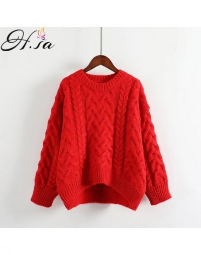 Women Oversized Sweater and Pullovers 2018 Spring Casual Knitted Jumpers Twisted Girls Loose Pullovers Warm female sweater -...
