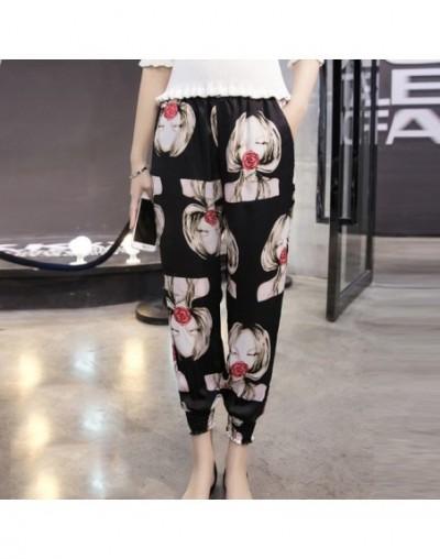 2019 new fashion chiffon harem pants summer casual loose plus size women pants bohemian print beach ankle-length pants D783 ...