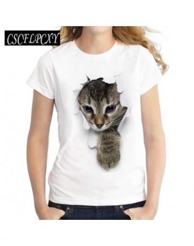 2017 Summer Naughty Cat 3D Lovely T Shirt Women Printing Originality O-Neck Short Sleeve T-shirt Tops Tee - 23 - 4S3957715454-4