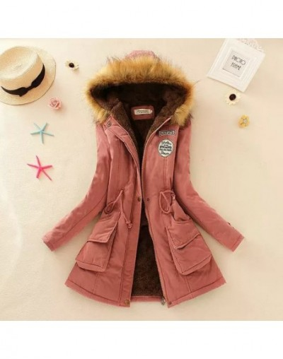 Winter Warm Coat Women Long Parkas Fashion Faux Fur Hooded Womens Overcoat Casual Cotton Padded Jacket Mutil Colors - DarkPi...