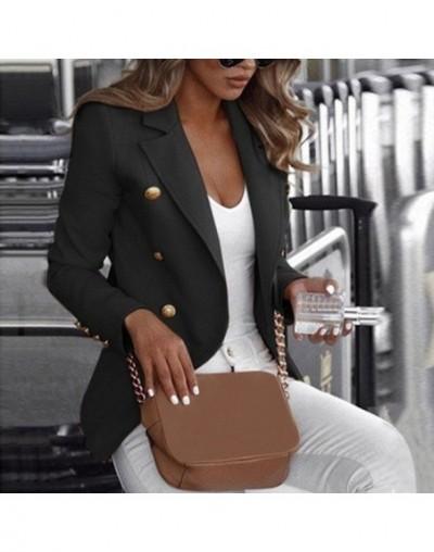 Plus Size Women Lady Buttons Blazers Work Jacket Coat Solid Color Slim Women Outerwear Autumn Office Lady Long Sleeve Blazer...