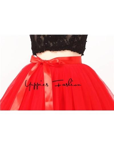Hidden Zipper Fashion 7 Layers Tutu Tulle Skirts Womens High Waist Summer Skirt Adult Pleated Skirt Lolita faldas saias jupe...