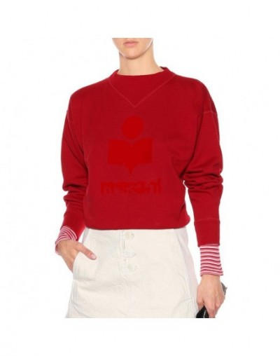 New Women Letter Flocking Cotton Sweatshirt Thick Warm Autumn Winter Casual Pull - Red - 4I3064903320-2