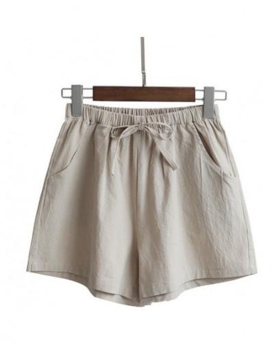 Droppshiping Women High Waist Loose Solid Color Shorts Casual for Summer Sport Running Beach J55 - Khaki - 5J111182536817-7