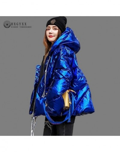 2019 Winter Coat Women Clothes Bright Surface Quilted Jacket Thick Cotton Casual Plus Size Parka A-line Warm Outwear Okd654 ...